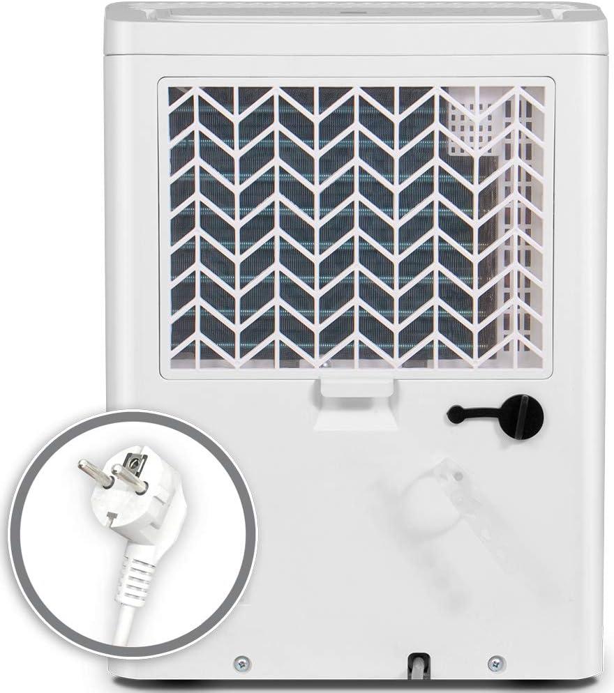 Panel de Control Digital y Dos A/ños de Garant/ía Deshumidificador Port/átil con Refrigerante R290 Deshumidificaci/ón Continua y Silenciosa Inventor Fresh 12L