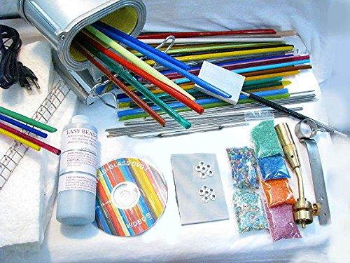 Devardi Glass Lampwork, Beadmaking Starter Kit - (Glass Beadmaking Kits)