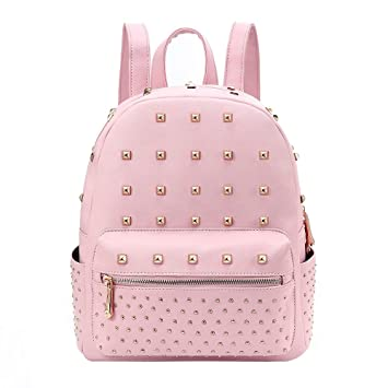 Women s Leather Backpack Teenage Girls College Student Casual Bag Purse  Shoulders Bag Travel Bag Daypack ( 32580bc536