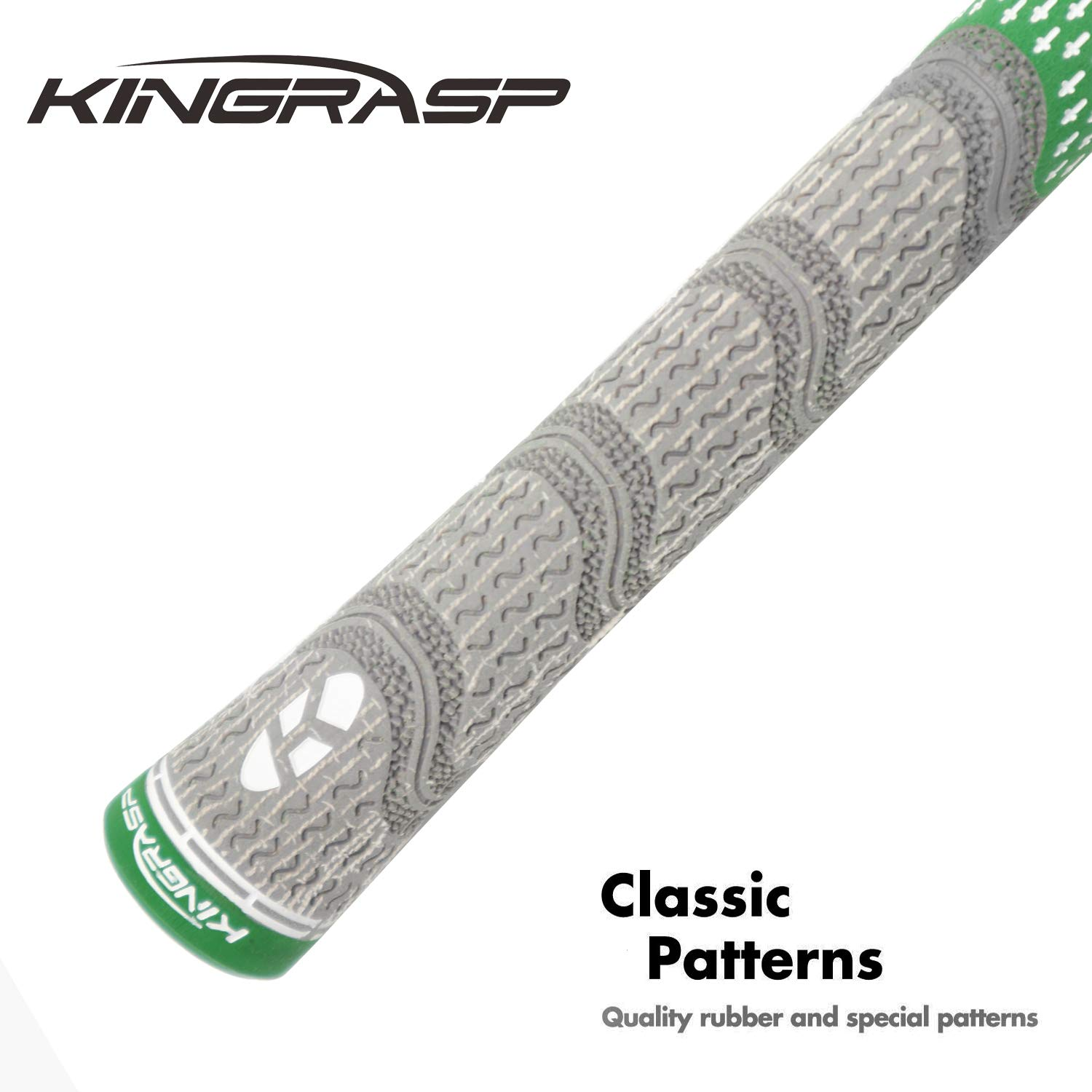 KINGRASP Multi Compound Golf Grips Set of 13 Golf Grip Standard midsize Size - All Weather Rubber Golf Club Grips Ideal for Clubs Wedges Drivers Irons Hybrids (Gray/Green, Standard) by KINGRASP (Image #3)