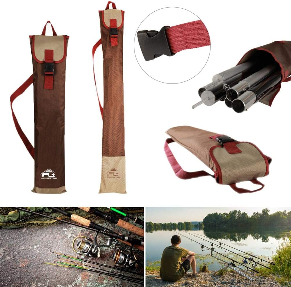 Outdoor Fishing Rod Bag Holdall Bag Canopy Pole Tent Pole Storage Bag 82*20cm