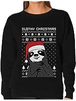 TeeStars - Slothy Christmas Ugly Christmas Sweater Sloth Women Sweatshirt