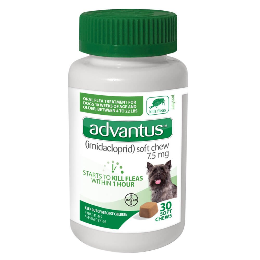 Bayer 4-23 lb 30 count Advantus 7.5mg Small Dog Pest Control