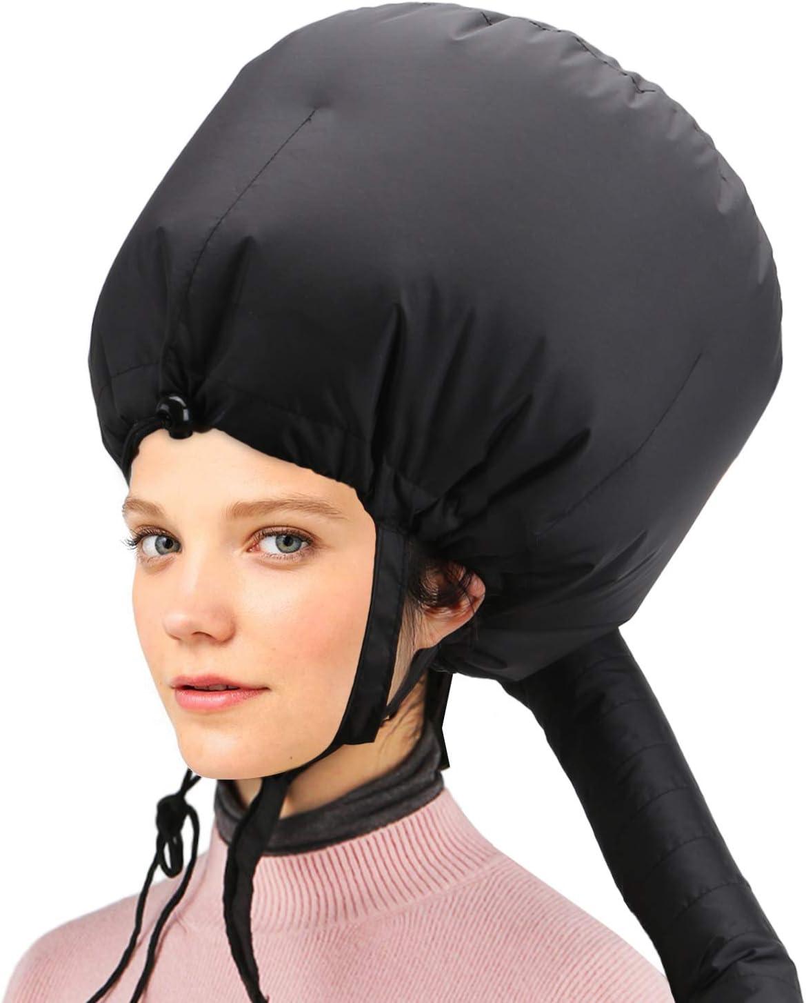 Capucha para secador de pelo, accesorio de secador de pelo ajustable Capó Cabello Acondicionador profundo Acondicionador tipo Y Correas laterales con vaporizador para cabello con banda elástica