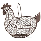 "Tag 204829 Farmhouse Chicken Wire Basket, 9.6 x 11.25 x 6.7"", Antique Finish"