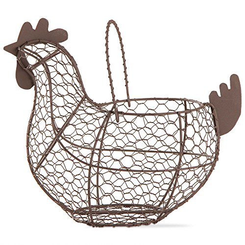 Farmhouse Chicken Wire Basket Egg Holder Antique Finish