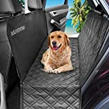HASLE OUTFITTERS Dog Car Seat Covers, Waterproof Dog Car Hammock, Pet Seat Cover for Cars, Trucks, SUV, 54″ W x 58″ L – Black Review