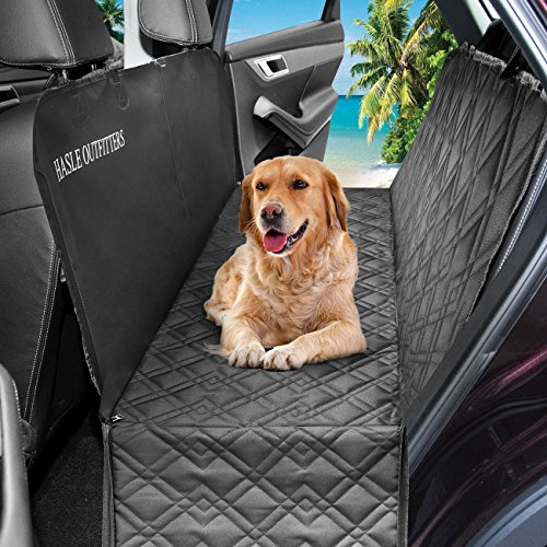 HASLE OUTFITTERS Dog Car Seat Covers, Waterproof Dog Car Hammock, Pet Seat Cover for Cars, Trucks, SUV, 54 W x 58 L - Black
