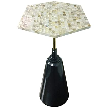 Living Room Side End With Mother Of Pearl Top Drink Table/Lamp Stand
