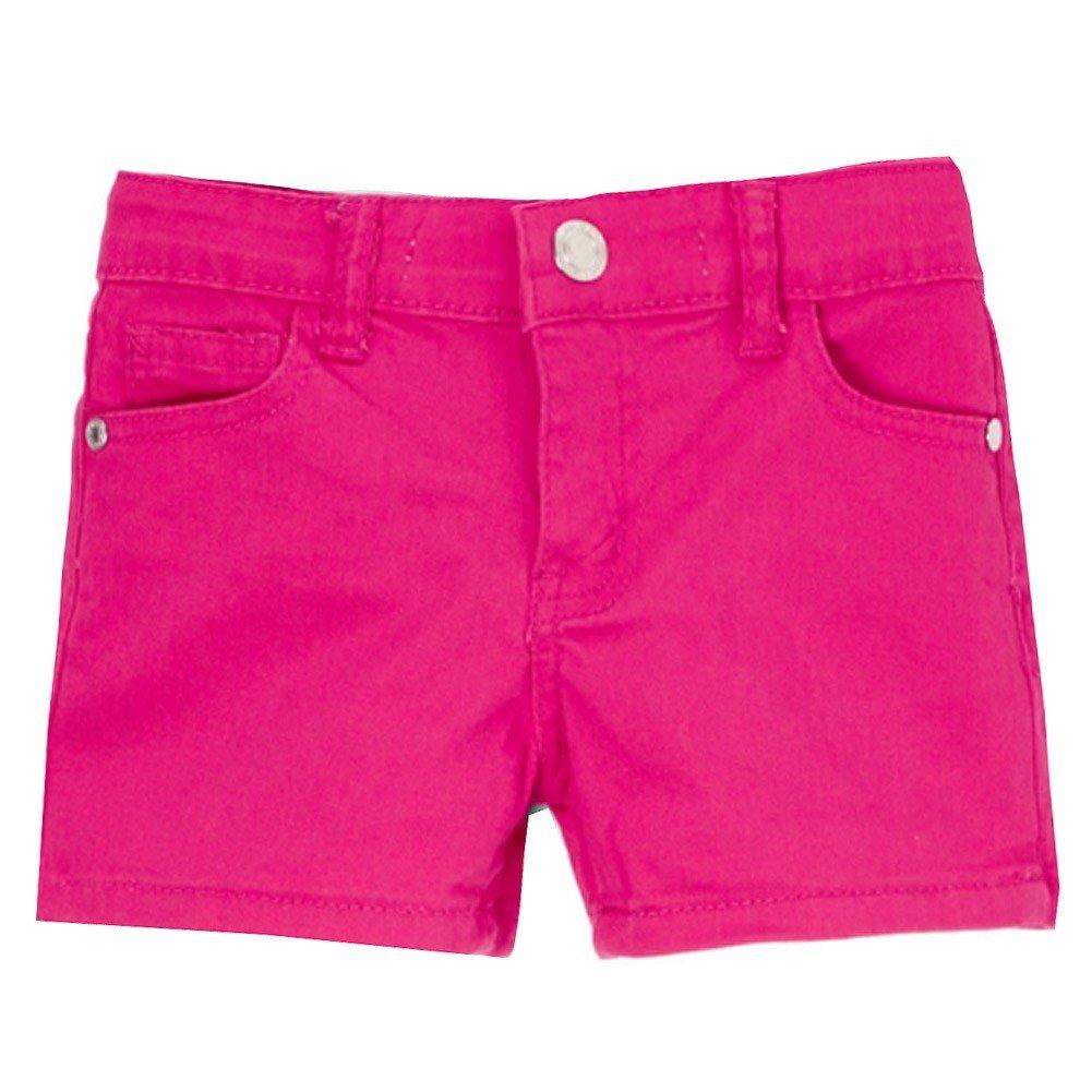 Mini Moca Little Girls Fuchsia Eye-Catchy Stretchy Trendy Denim Shorts 6