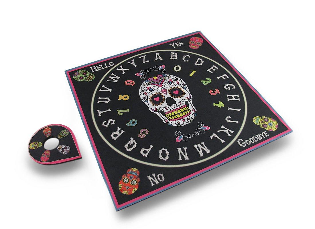 Zeckos Vinyl Fortune Telling Toys Day Of The Dead Talking Board Sugar Skull Spirit Board 15 X 15 X 1 Inches Multicolored