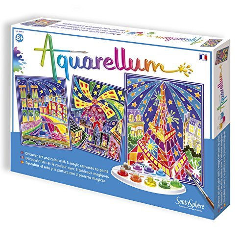 SentoSphere Aquarellum - Paris by Night Watercolor Paint Set