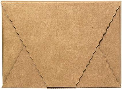 Kartox | Caja en Cruz | Caja Sobre | Caja Regalo de Cartón Kraft | Talla S | 10 Unidades: Amazon.es: Oficina y papelería