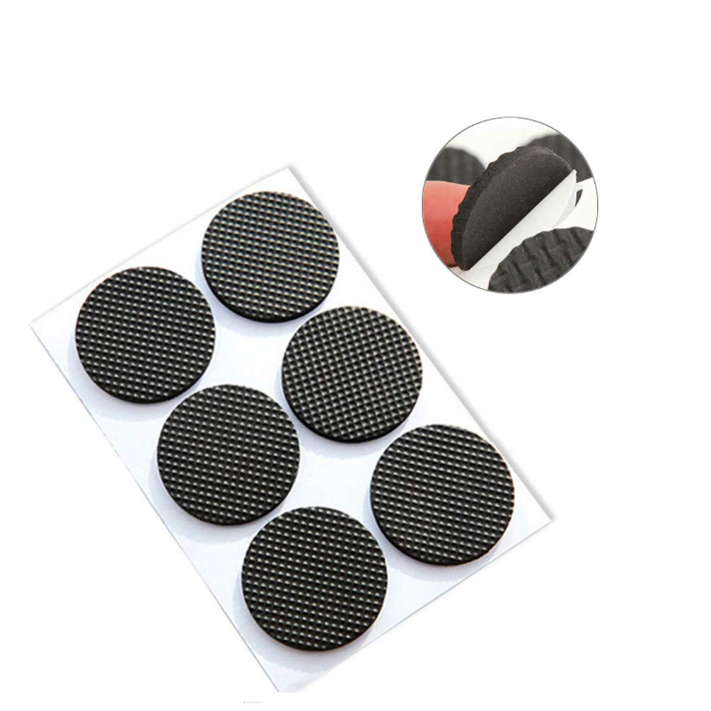 Round Square Shape Self Adhesive, Non-Slip Furniture Pads, Table Sofa Feet Sticky Floor Protector - Round