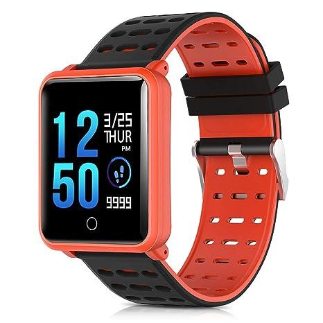 Lixada Color Pantalla Fitness Tracker Smart Watch GPS Digital Reloj de Pulsera Ritmo Cardíaco Presión Arterial