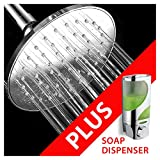 Hydroluxe 6-inch Rainfall Shower Head with Hydro Blast Technology for High Power Water