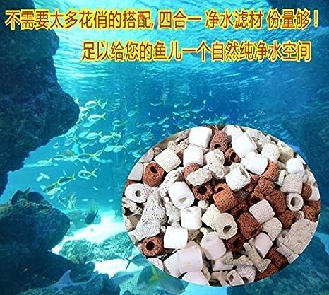 Anillo de cerámica del filtro peces de coral acuario bacterias albergan acuario anillo de materiales de filtración de agua pecera bioquímicos: Amazon.es: ...