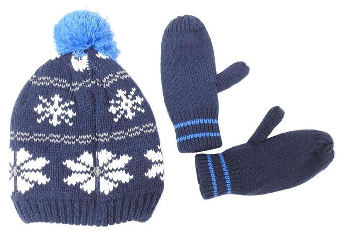 Amazon.com  Carter s Boy s Fleece Lined Pom Pom Winter Hat and Glove ... 0dcb8dd2bbb