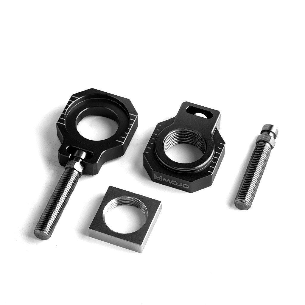 MojoMotoSport - MOJO-KTM-25ABBLK - KTM 25MM Axle Blocks Black - CNC Billet Anodized Aluminum