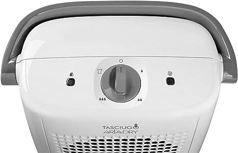 DeLonghi Tasciugo AriaDry DX10.WGY Deshumidificador, Depósito agua extraíble, Habitaciones de 50 m2, Función secado ropa, Filtro anti-polvo, Sistema dual de drenaje, 2 litros, Blanco y gris: 164.22: Amazon.es: Hogar