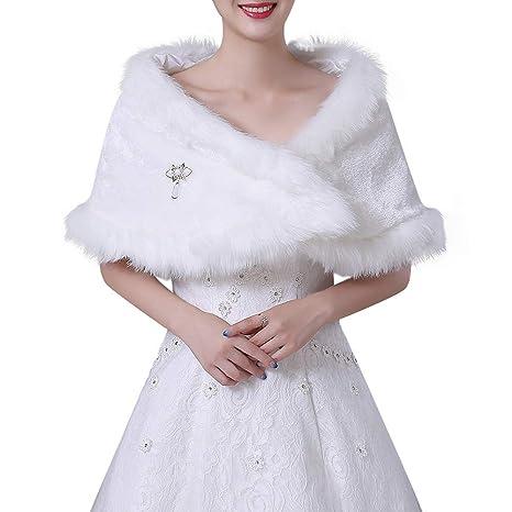 Chal Bufanda para Mujer y niña, Invierno de Las Mujeres Abrigo cálido Chal Elegante Nupcial