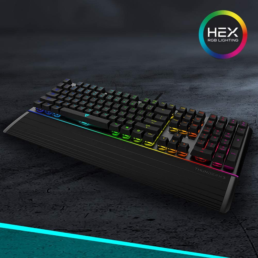 Teclado ThunderX3 AK7-HEX RGB Mecánico Switch Blue