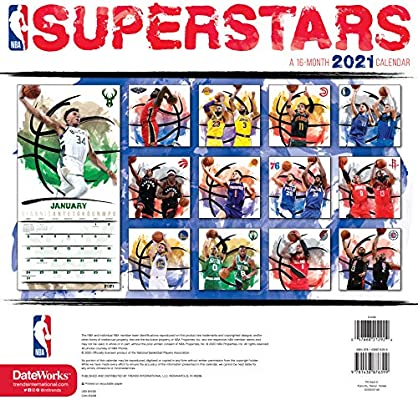 NBA Superstars Calendar 2021 Bundle   Deluxe 2021 NBA Superstars