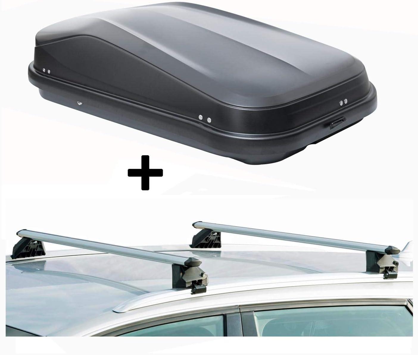 Dachtr/äger CRV107A kompatibel mit Volvo XC60 Dachbox JUEASY320 320Ltr schwarz gl/änzend abschlie/ßbar 5 T/ürer 2008-2017