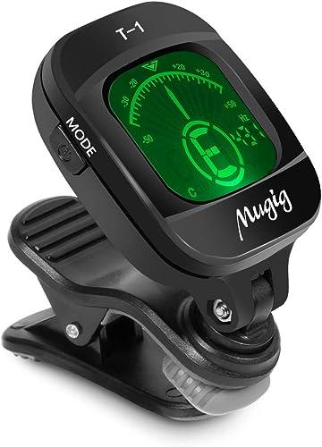 Mugig T-1 Clip-On Tuner for Guitar, Bass, Violin, Ukulele