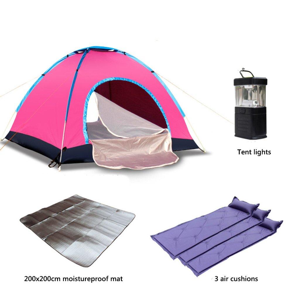 Campingzelt,3-4 Personen Outdoor Automatictent Zelt Für 2 Personen Campingausrüstung Mit Tragebag Portable Fishing Uv Beständig Feld Autotour Kuppelzelte