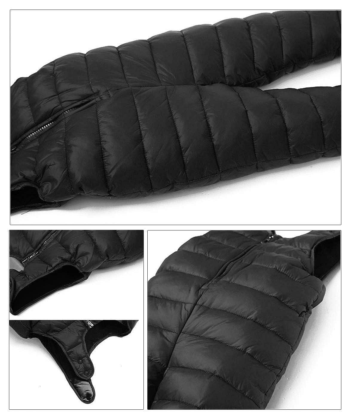 Happy Cherry Unisex Baby Winter Down Overalls Zipper up Bib Pants Romper Warm Sleeveless Jumpsuit