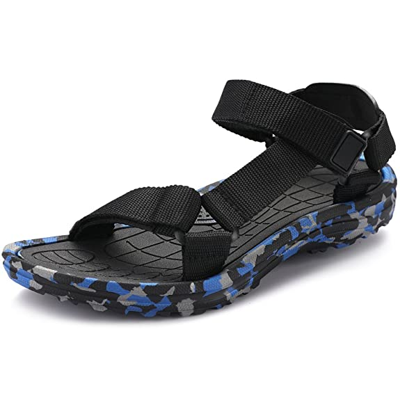 Amazon.com | VILOCY Mens Lightweight Adjustable Strap Outdoor Camo Water Shoes Sling Sport Sandals | Sport Sandals & Slides