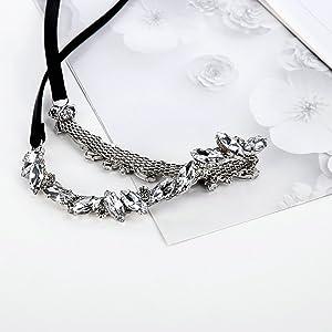 Gnzoe - Gargantilla Ajustable de Piel para Mujer, diseño de Gotas ...