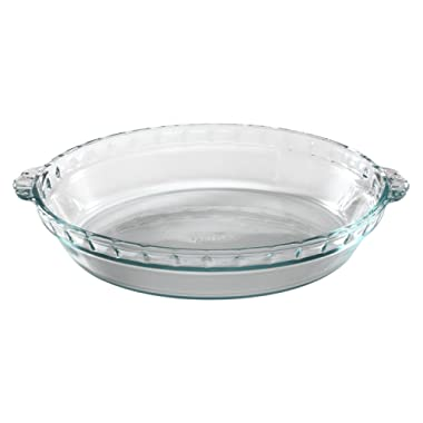 Pyrex Bakeware 9-1/2-Inch Scalloped Pie Plate, Clear (Pack of 3)