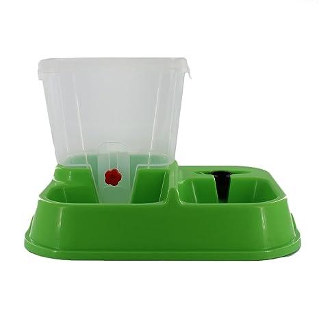 Dooret Dispensador automático de comederos para Mascotas, dispensador de Agua para Gatos Comedero automático de