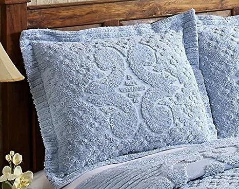 Better Trends//Pan Overseas Ashton 430 GSM Heavy Weight 100-Percent Cotton Chenille Tufted Sham White Standard