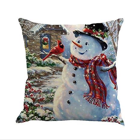 Funda de cojín de Navidad de LANWINY, para sofá, Cintura ...
