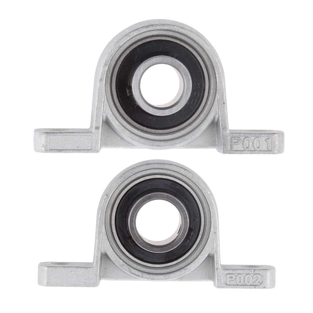Pack of 2 15mm Inside Diameter Pillow Block Mounted Bearings 12mm