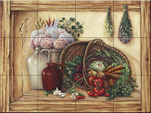 Ceramic Tile Mural - Butlers Pantry- by Rita Broughton - Kitchen backsplash/Bathroom Shower