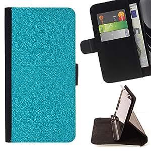 Momo Phone Case / Flip Funda de Cuero Case Cover - Chispa azul piscina de agua de mar - Samsung Galaxy J1 J100