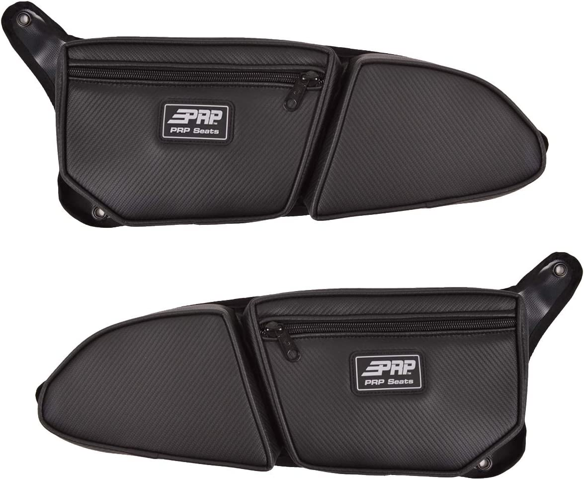 PRP RZR Stock Front Door Bags PAIR w// Knee Pad Black  XP1000 900S Turbo Set of 2