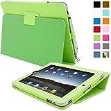 iPad 2 Hülle (Grün), Snugg - Smart Case mit lebenslanger Garantie + Sleep / Wake Funktion