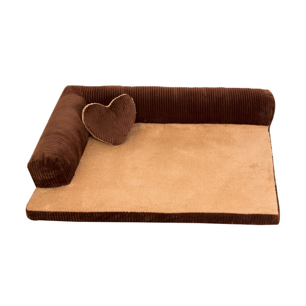 BROWN 5768cm BROWN 5768cm RKY Kennel Four Seasons Pet Wolves Dog House Cat Litter Pet Bed Kennel Removable And Washable Large Dog Kennel Dog Mat Autumn And Winter Dog Bed Pet Supplies Soft sleeping pad