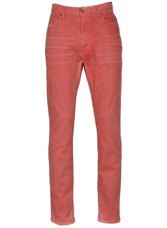 Nautica Premium Denim Men's Printed Tapered Fit Colored Jeans