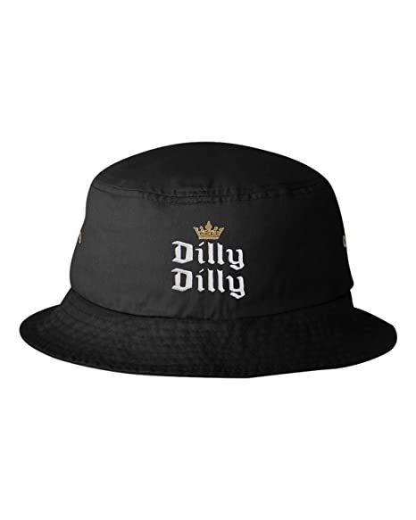 e7bd28e61 Go All Out Adult Crowned Dilly Dilly Embroidered Bucket Cap Dad Hat