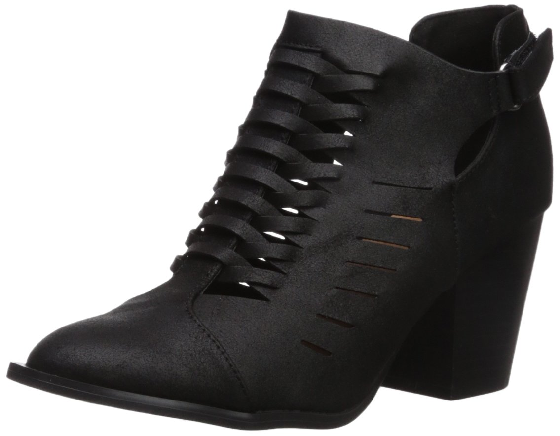 Qupid Women's Prenton-05X Ankle Boot B074NHNLJT 9 B(M) US|Black