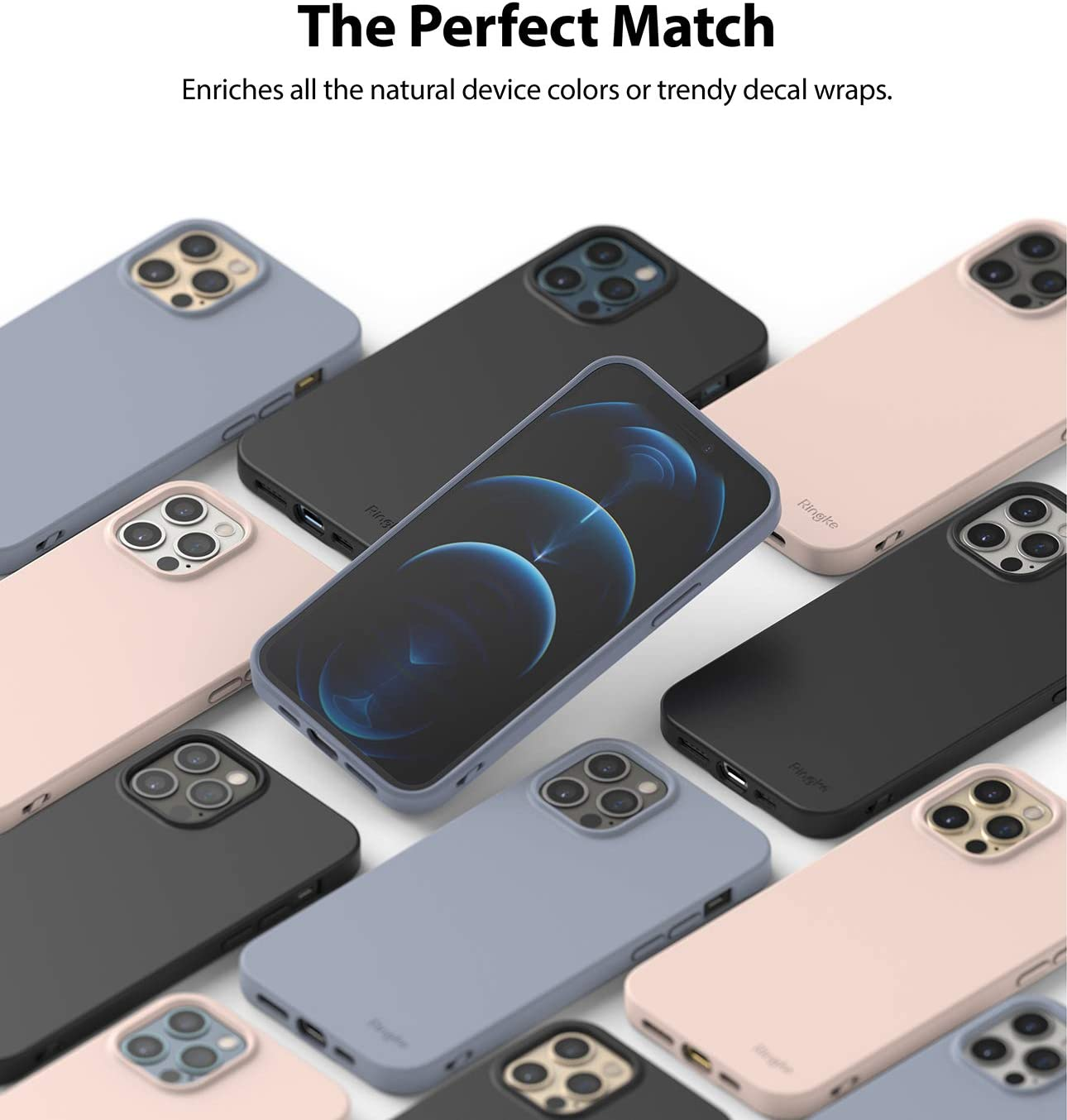 Ringke Air-S Designed for iPhone 12 iPhone 12 Pro Soft Premium Matte TPU Phone Cover for iPhone 12 2020 iPhone 12 Pro Case Black 6.1-inch