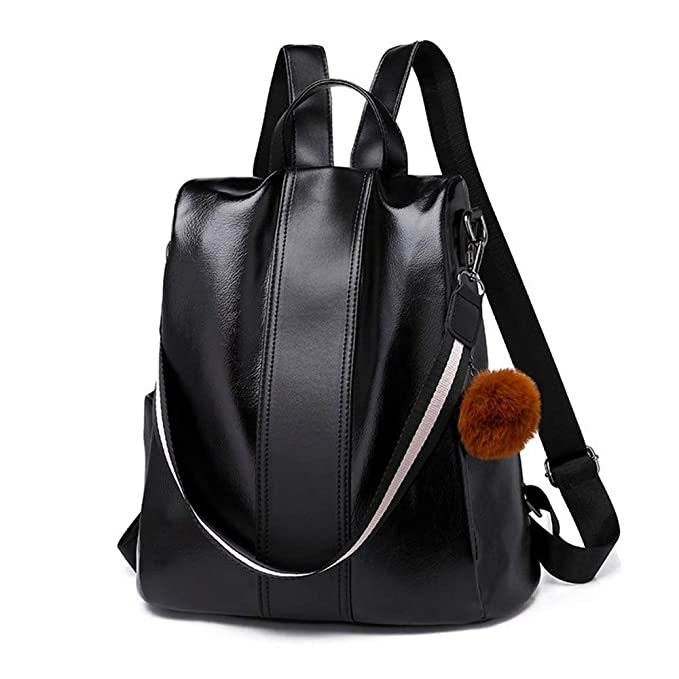 6f18ceb95d1e Melitao Women Backpack Purse PU Leather School Bags Dayback Waterproof  Shoulder Bags Anti-Theft Ladies Rucksack