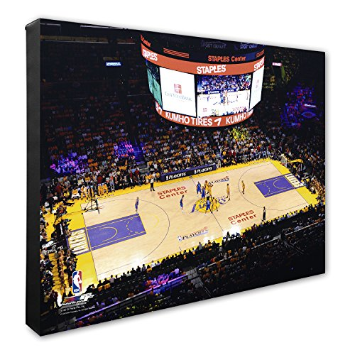 - Photo File NBA Los Angeles Lakers Staples Center Basketball Arena Canvas Artwork, 16