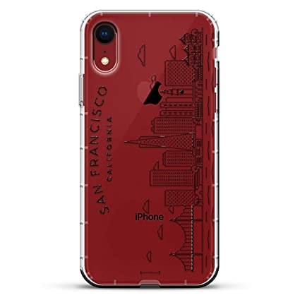 San Francisco Skyline Luxendary Air Series Clear Silicone Case With 3d Printed Design And Air Pocket Cushion Bumper For Iphone Xr New 2018 2019